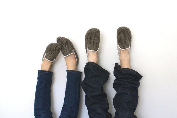 His and Hers Crochet Slippers