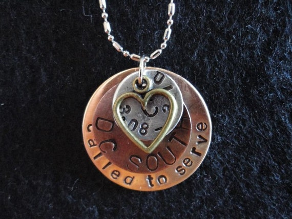Handstamped Custom Service, Missionaries, Soldiers, Teachers and Caregivers