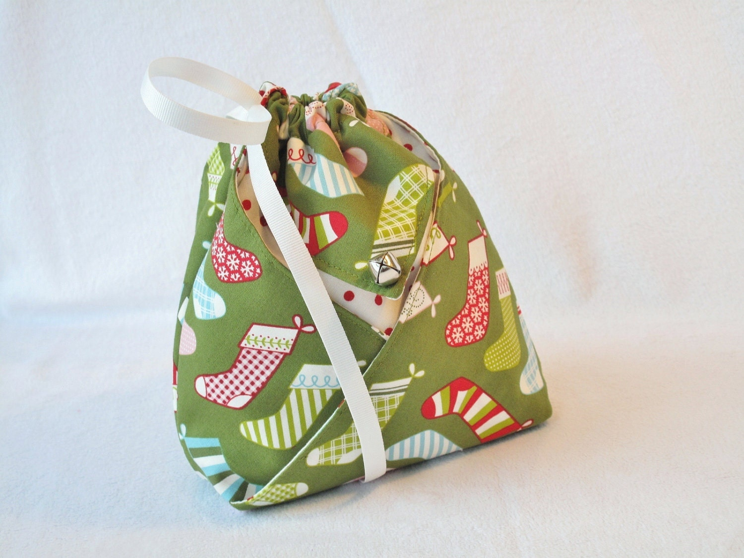 Origami Gift Bag Stockings on Green Sleigh by ... - photo#20