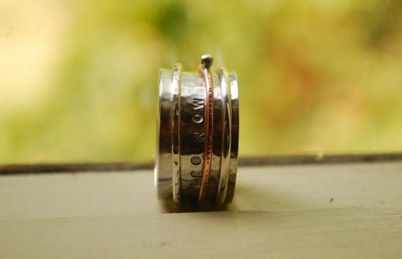 Personalized Spinner ring - SPIN ring