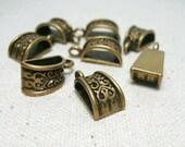 10pcs 20x10mm Antiqued Bronze Color  Metal Pendant Bails