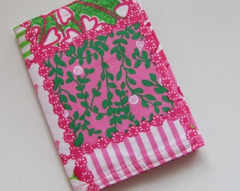 Passport Cover Multipatchtastic made with Lilly Pulitzer Fabric