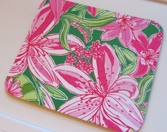 Mouse Pad  made with Lilly Pulitzer Signature Fabric Pick of the Bunch