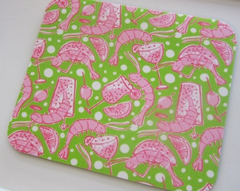 Lilly Pulitzer Fabric Mouse Pad Shrimp Cocktail