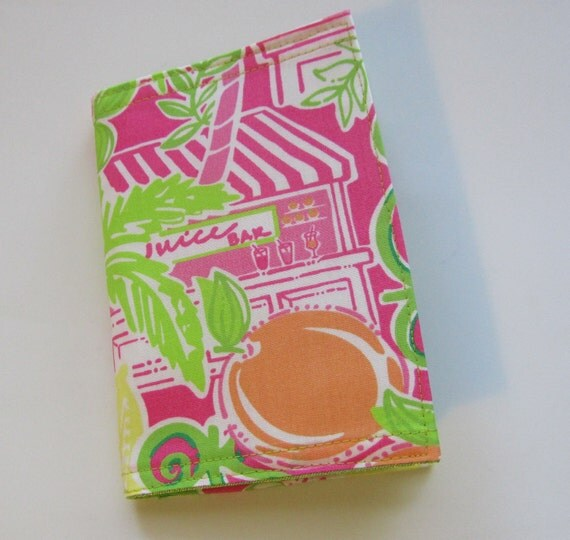 Passport Cover Lilly  Fabric Juice Bar