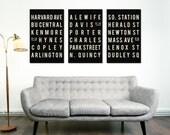 Boston, Massachusetts, Print, Typography Art Poster, Urban Wall, Modern Home Decor, Black and White, Quote Print, Set of 3 Prints, Art Print