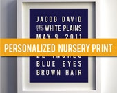 Baby Boy, Nursery Art Print, Kids Room Decor, Boys Room Art, Playroom Art, Nursery Decor, New Baby Gift