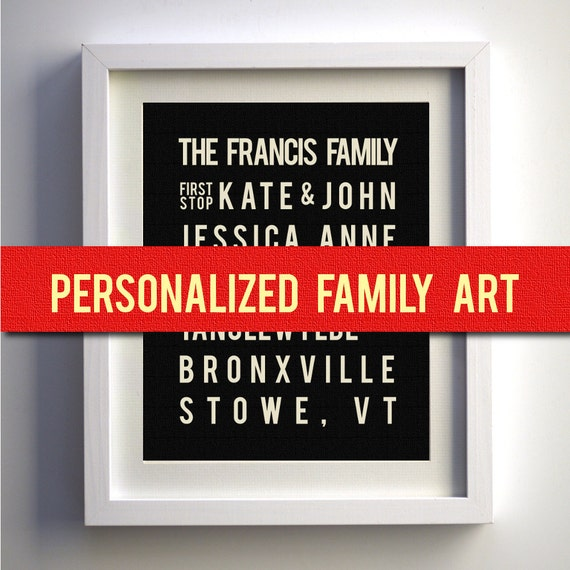 Personalized Family Art, Family Name Sign, Family Established Sign, Personalized Housewarming Gift