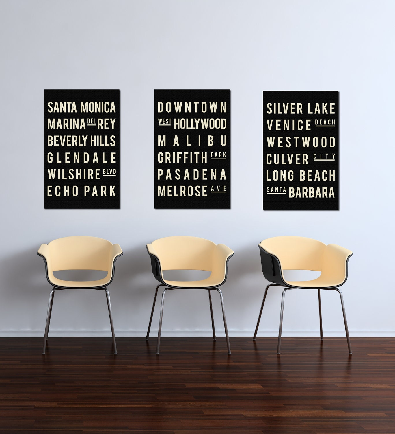 Los Angeles Wall Art california poster print los angeles wall decor los angeles