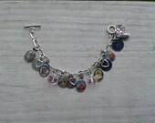 Religious charm bracelet made for little girls