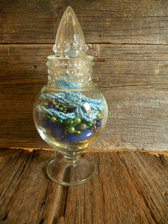 Clear Apothecary Jar, Glass