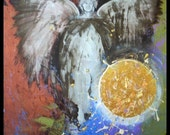 Archangel Michael - Original Painting by Alma Yamazaki