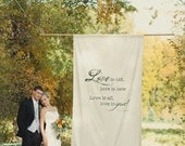 Handpainted Canvas Wall Hanging - Love is...
