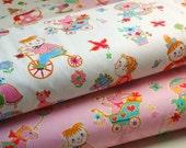 SALE - Japanese Fabric Cotton Yuwa - Playing Children White - a yard