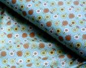 SALE - Japanese Fabric Cotton Yuwa - Mini Flowers green - a yard