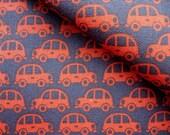 Japanese Fabric Cotton Kokka - Beetle Car Red - half yard