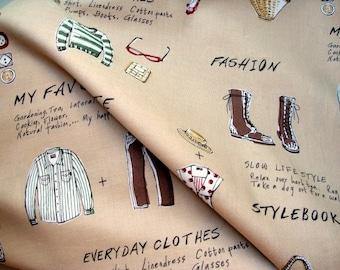 Japanese Fabric Cotton Yuwa - Lifestyle Light Brown - half yard