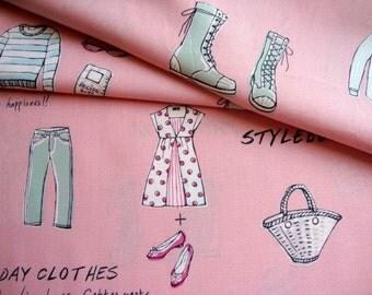 Japanese Fabric Cotton Yuwa - Lifestyle Pink - half yard