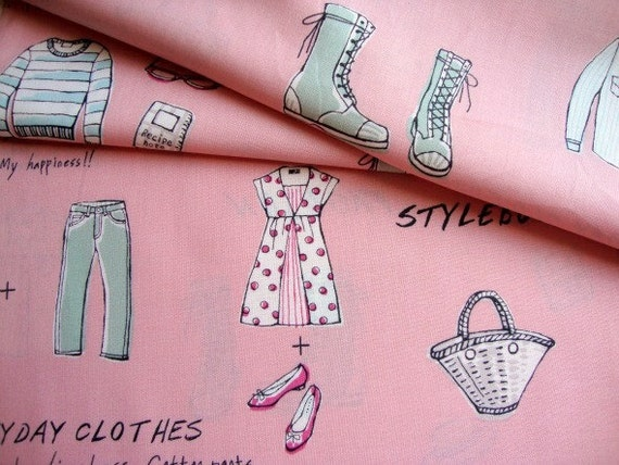 Japanese Fabric Cotton Yuwa - Lifestyle Pink - half yard