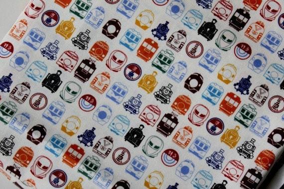 Japanese Fabric Cotton - Classic Train - Fat Quarter
