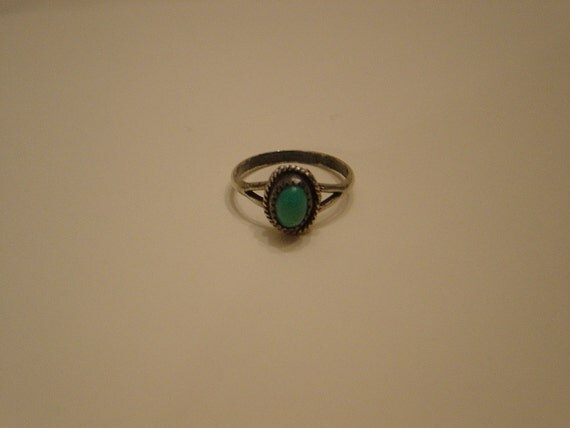 Turquoise Ring, Vintage, Silver