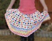 Hearts Remix Girls Twirly Skirt (sizes 6 months-8 years)