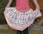 Hearts Remix Girls Twirly Skirt (sizes 6 months-8 years)