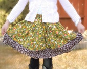 Willow Shroom Girls Extra Full Twirly Skirt (sizes 6 months-8 Years)