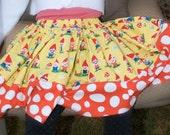 Gnoming Around Girls Extra Full Twirly Skirt (sizes 6 months-8 Years)