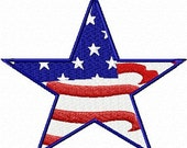 Star Flag - Machine Embroidery File