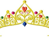 Instant Download Tiara Pageant Jeweled Crown embroidery design - Machine Embroidery File - Machine Embroidery Design - Digital Design File