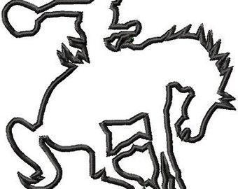 Instant Download Bronco Rider Applique embroidery design - Machine Embroidery Design - Digital Design File