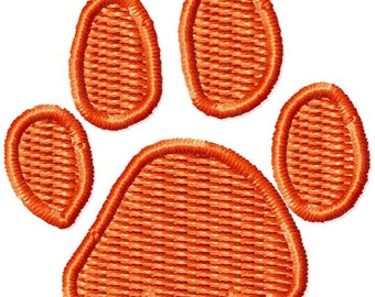 Instant Download Small Paw embroidery design - Handmade embroidery design - Machine Embroidery Design - Digital Design File