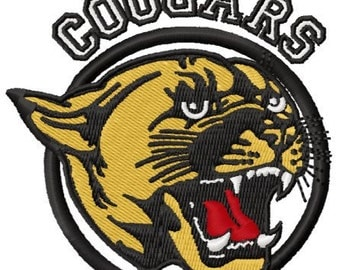 Instant Download Cougars Mascot embroidery design - Machine Embroidery File - Machine Embroidery Design - Digital Design File