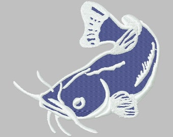 Instant Download Catfish embroidery design - Machine Embroidery File - Machine Embroidery Design - Digital Design File