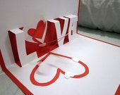 Love Spiral Pop Up Card