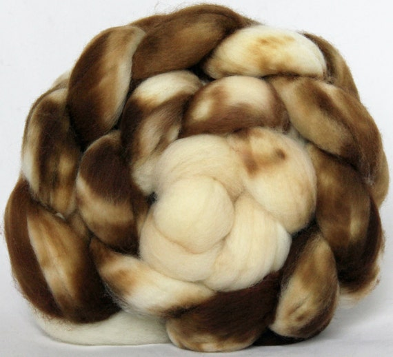 Hand dyed - SW Merino Combed Top - Spinning Fiber - Spotted - Gradient