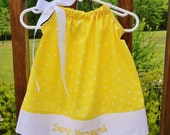 Yellow Polka Dot Pillowcase Dress
