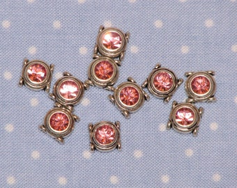 "Swarovski Spacer Beads - Light Rose Pink - large 5.5mm (3/8"")"