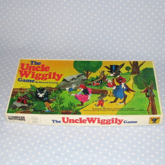 Vintage Uncle Wiggily Game with Board Cards Pawns