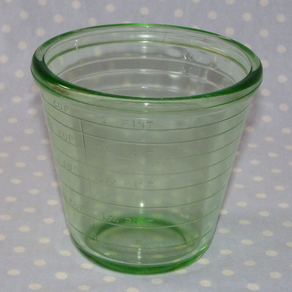 Vintage Cup New 176 Vintage Glass Measuring Cup