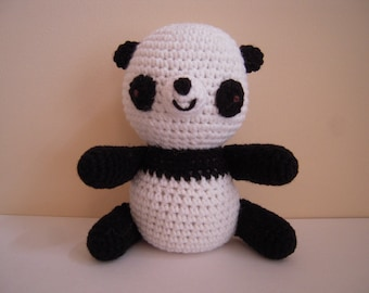 Crocheted Stuffed Amigurumi Panda Bear