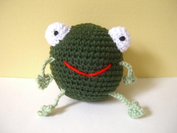 Crocheted Stuffed Amigurumi Frog Ball