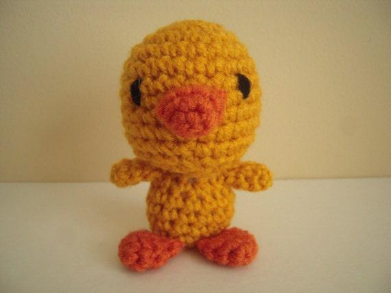 Amigurumi Baby Duck : Crocheted Stuffed Amigurumi Baby Duck