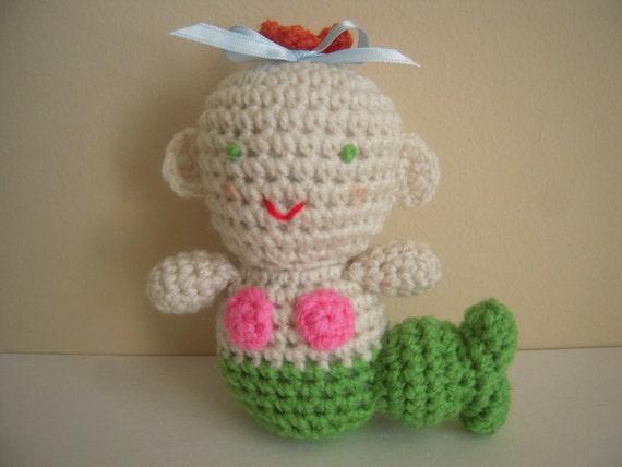 Crocheted Stuffed Amigurumi Mermaid