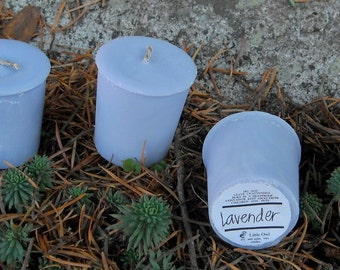 Lavender soy and palm wax votives