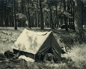 "Vintage Photo ""Going Camping"", Photography, Paper Ephemera, Snapshot, Old Photo, Collectibles - 0046"