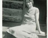 "Vintage Photo ""Young Woman"", Photography, Paper Ephemera, Snapshot, Old Photo, Collectibles - JL007"