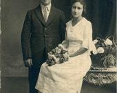 "Vintage Photo ""Wedding Day"", Photography, Paper Ephemera, Snapshot, Old Photo, Collectibles"