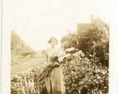 "Vintage Photo ""Local Florist"", Photography, Paper Ephemera, Snapshot, Old Photo, Collectibles - JL009"